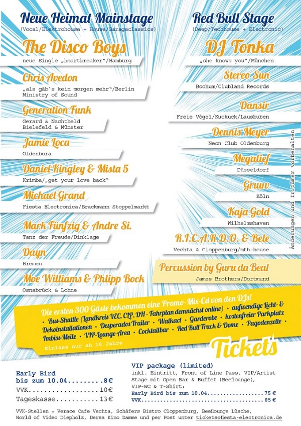 Fiesta Electronica 2013 Line Up